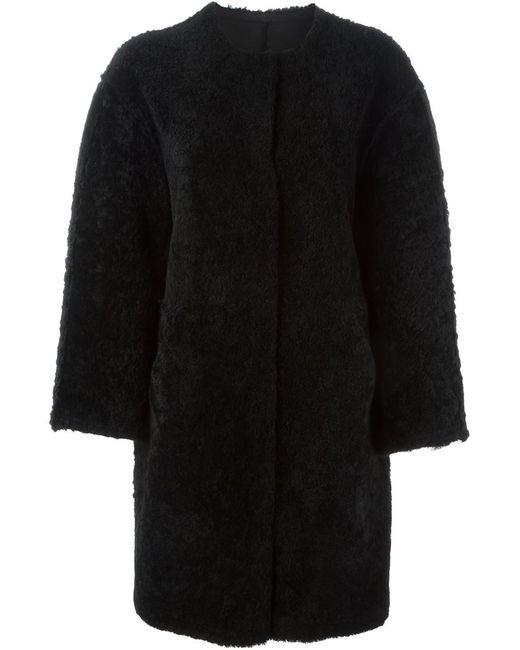 SPRUNG FRERES   Женское Чёрное Двухстороннее Пальто Alison