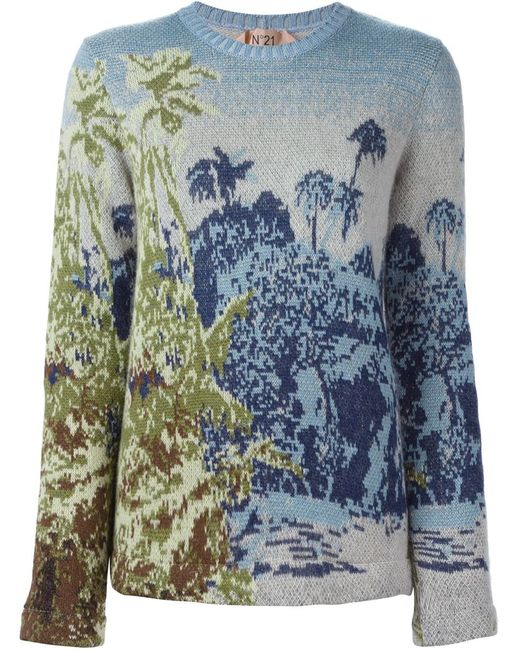 No21 | Женское Nude & Neutrals Intarsia Knit Sweater