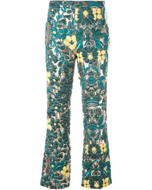 GIULIETTA NEW YORK   Женское Зелёный Brocade Trousers