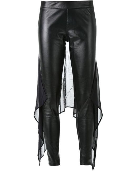 Gareth Pugh | Женское Чёрный Chiffon Panel Skinny Trousers