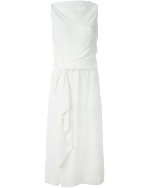 Jason Wu | Женское Белое Платье С Драпированными Деталями