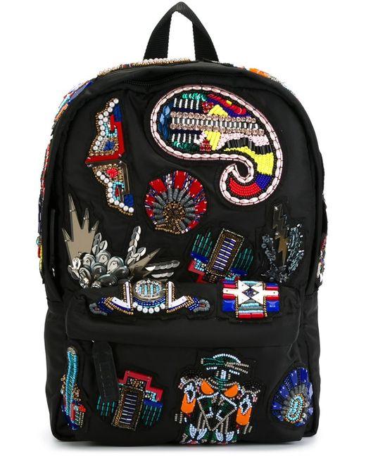 MSGM | Женское Чёрный Embellished Patch Backpack