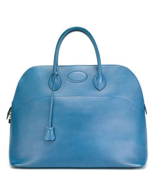 Hermès Vintage | Женская Синяя Дорожная Сумка