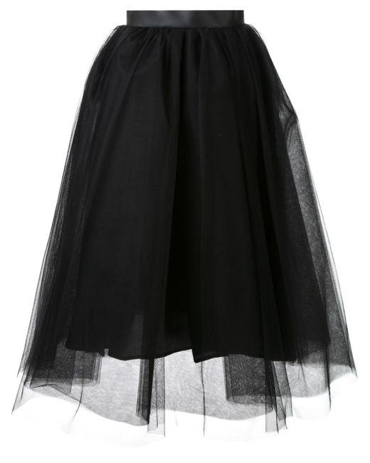 LE CIEL BLEU | Женское Чёрный Tulle Flared Skirt