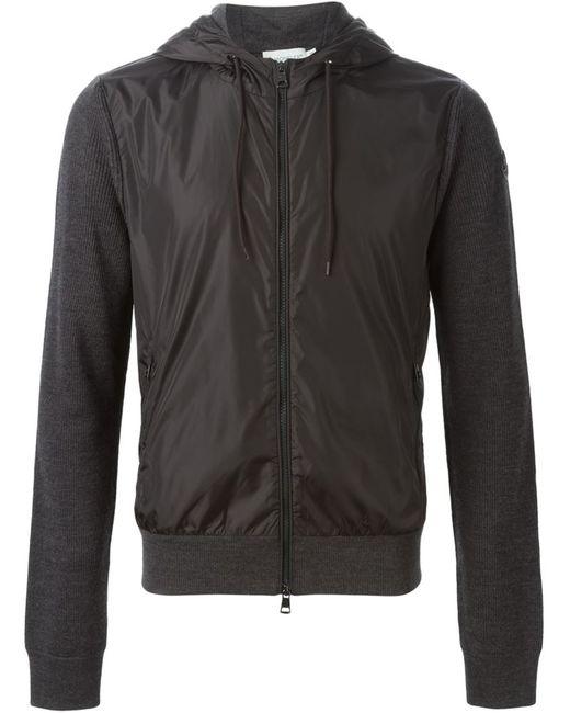 Moncler   Мужское Серый Two-Tone Sweatshirt
