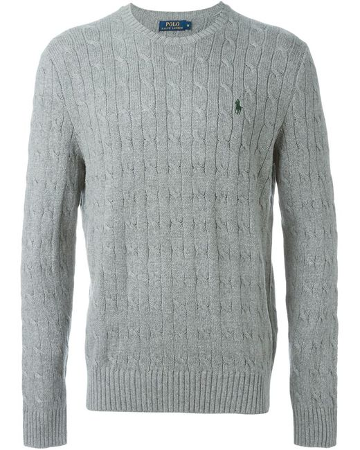 Polo Ralph Lauren | Мужское Серый Cable Knit Sweater