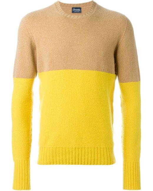 Drumohr | Мужское Nude & Neutrals Crew Neck Sweater