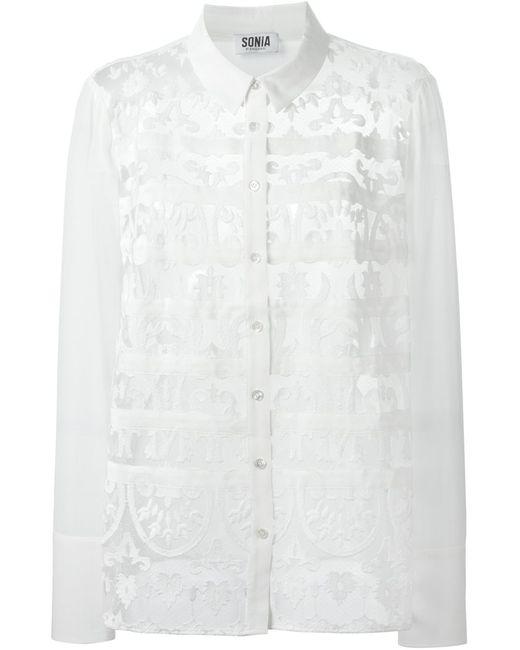 Sonia By Sonia Rykiel | Женская Белая Рубашка С Кружевными Вставками