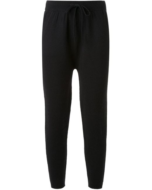 T By Alexander Wang | Женское Чёрный Knitted Track Pants