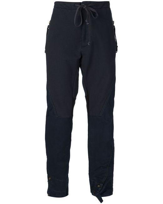 GREG LAUREN   Мужское Синий Mixed Fabric Trousers