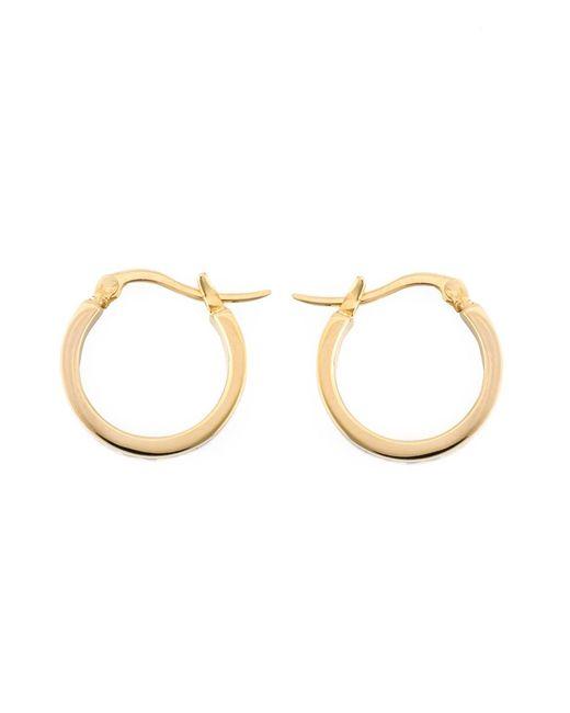 Marc by Marc Jacobs   Женское Чёрный Enamel Logo Mini Hoop Earrings