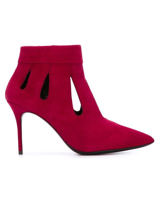 Giuseppe Zanotti Design   Женские Розовые Ботильоны С Вырезными Деталями