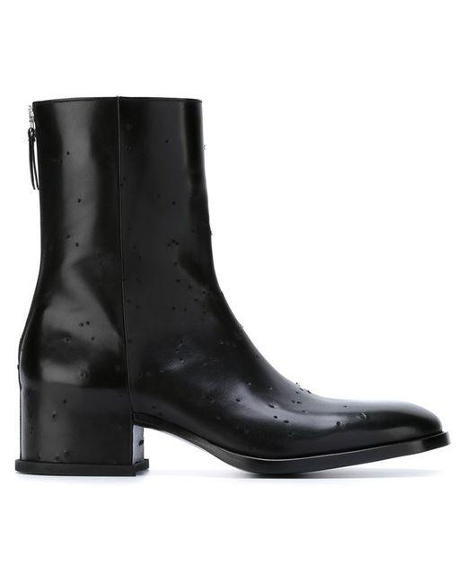 Givenchy | Мужские Чёрные Ботинки По Щиколотку С Потертой Отделкой