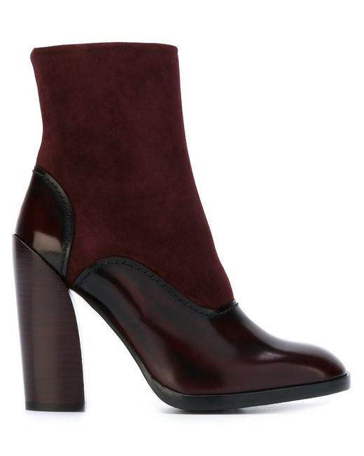 Jil Sander | Женское Розовый Paneled Chunky Heel Boots