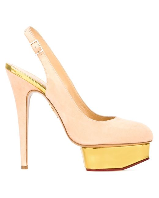 Charlotte Olympia | Женские Розовые Туфли Dolly