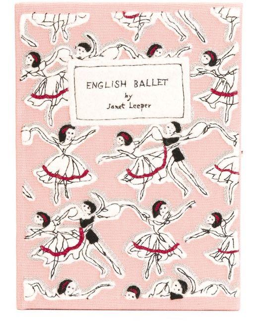Olympia Le-Tan | Женский Розовый Клатч English Ballet