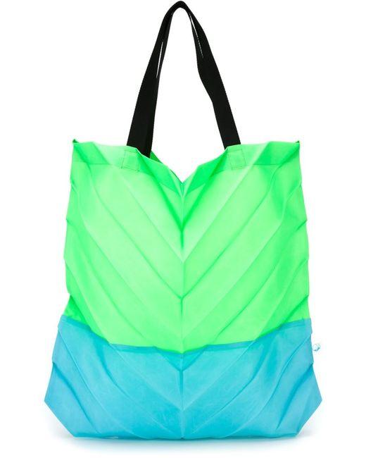 Issey Miyake Cauliflower | Женское Зелёный Pleated Tote Bag