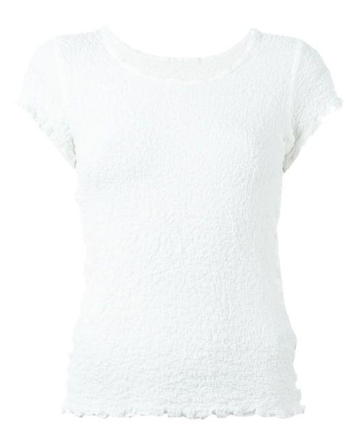 Issey Miyake Cauliflower   Женское Белый Textured T-Shirt