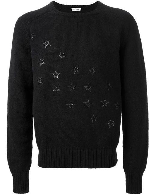 Saint Laurent | Мужское Чёрный Sequin Star Sweater