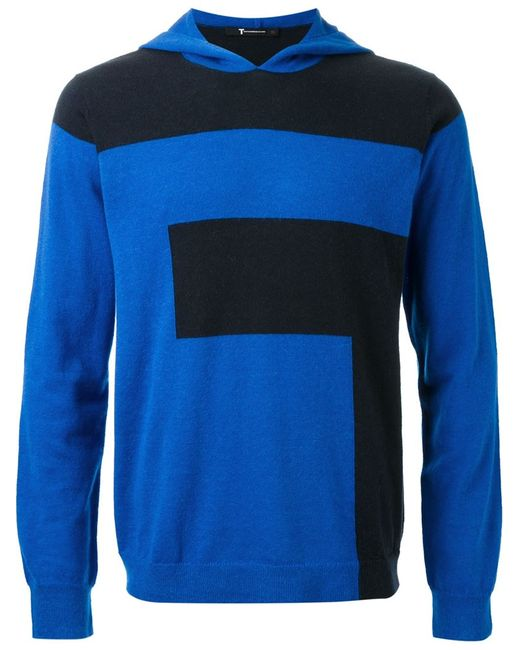 T By Alexander Wang | Мужское Чёрный Colour Block Hooded Sweater