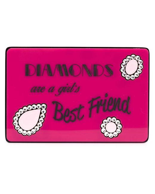 Yazbukey | Женское Розовый Diamonds Are A Girls Best Friend Clutch