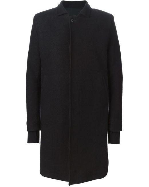 11 BY BORIS BIDJAN SABERI   Мужское Чёрное Однобортное Пальто