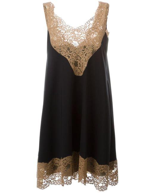 Chloe | Женское Чёрное Платье 2 В 1 С Кружевной Отделкой