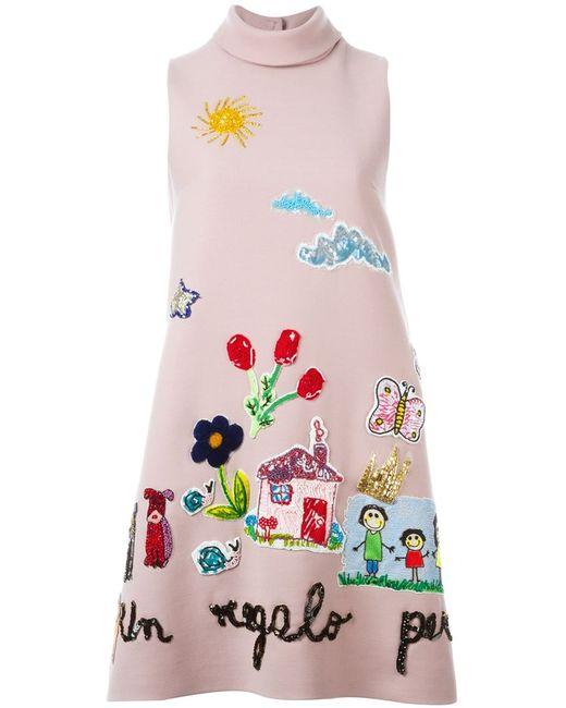 Dolce & Gabbana | Женское Розовый Drawings Appliqué Dress