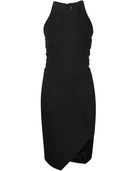 Alexandre Vauthier   Женское Чёрное Платье С Сетчатыми Вставками