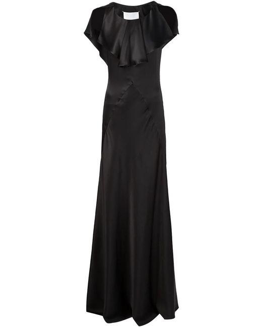 Maison Margiela | Женское Синее Вечернее Платье С Открытыми Плечами