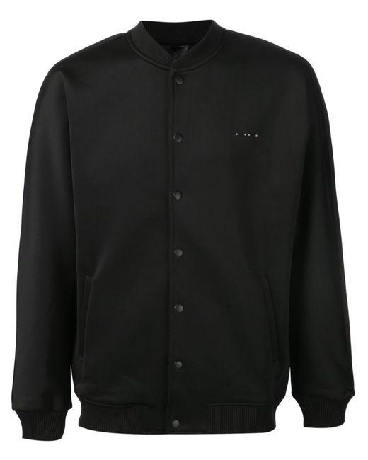 Publish | Мужская Чёрная Куртка-Бомбер Crafter