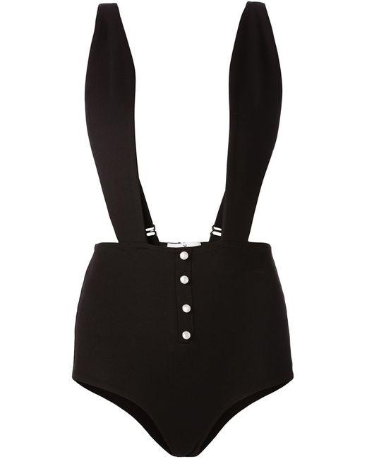 Fleur du Mal | Женское Чёрный Боди С Дизайном Кролик