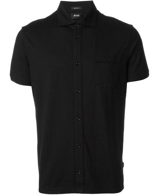Hugo | Мужское Чёрный Shortsleeved Shirt