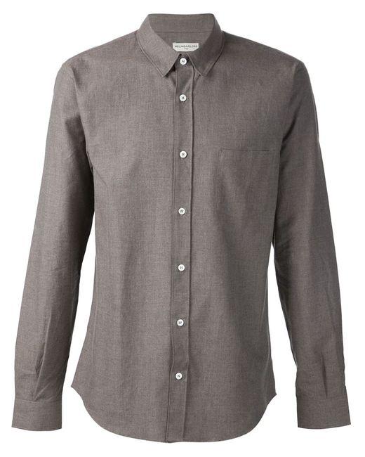 Melindagloss | Мужская Серая Рубашка С Нагрудным Карманом