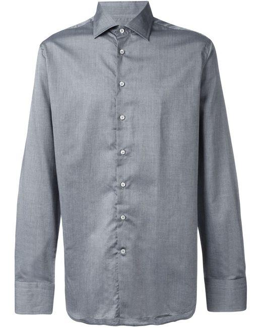 Etro | Мужская Серая Классическая Рубашка