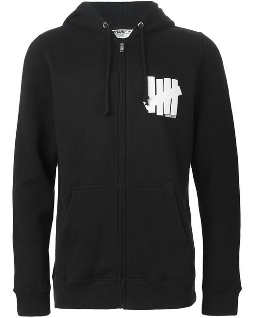 Undefeated | Мужское Чёрный Logo Print Hooded Sweatshirt