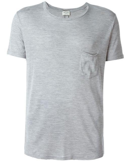 Saint Laurent   Мужское Серый Lightweight T-Shirt