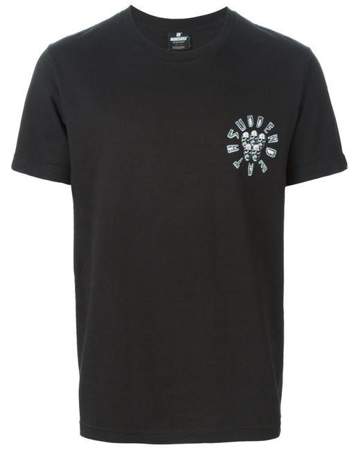 Undefeated | Мужское Чёрный Skull Print T-Shirt