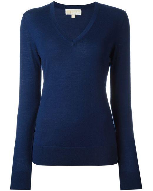 Michael Michael Kors | Женское Синий V-Neck Sweater