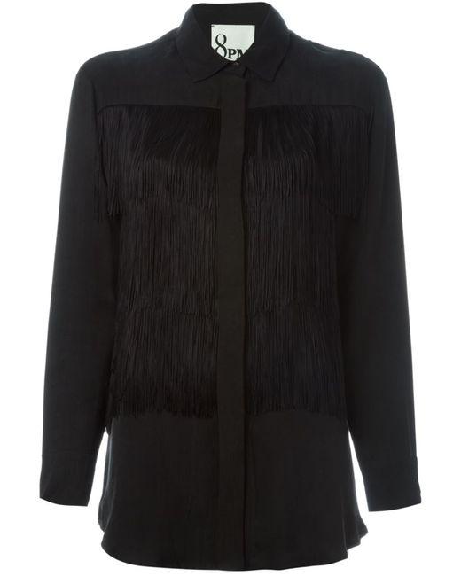 8pm | Женская Чёрная Блузка С Бахромой