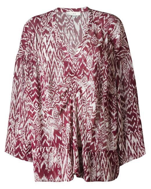 Iro | Женское Красный Printed Sheer Blouse