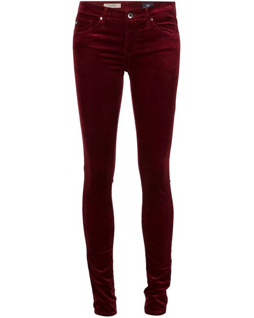 AG JEANS | Женское Красный Skinny Velvet Trousers