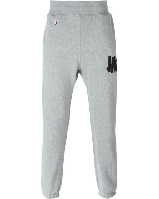 Undefeated   Мужское Серый Logo Print Track Pants