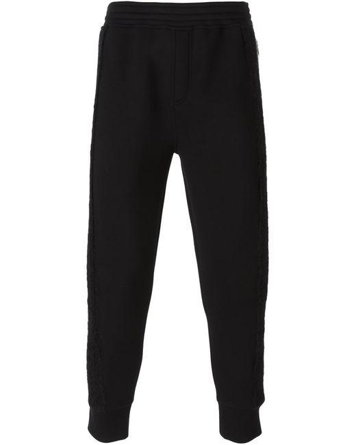 Neil Barrett | Мужское Чёрный Fur Trim Sweat Pants