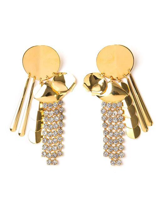 LIZZIE FORTUNATO JEWELS | Женское Желтый Souk Disk Tassel Earrings