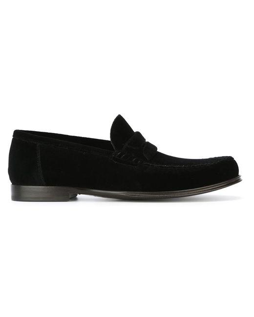Dolce & Gabbana | Мужское Чёрный Velvet Penny Loafers