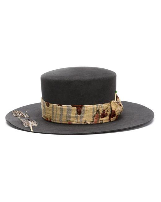 NICK FOUQUET | Женское Чёрный The Hierophant Hat