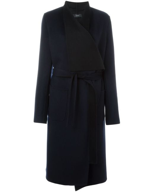 Joseph | Женское Синий Long Belted Wrap Coat