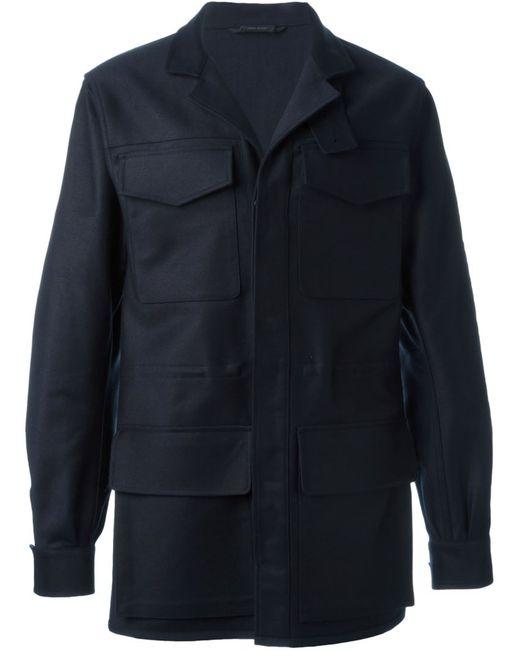 Jil Sander   Мужское Синее Пальто Falkland