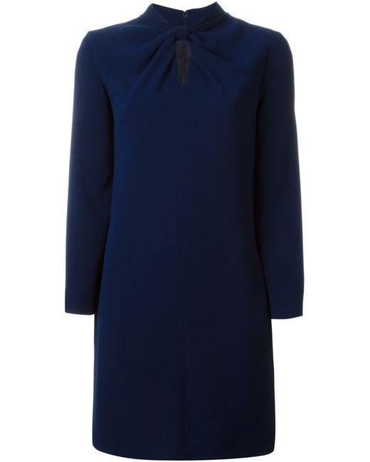 Aspesi   Женское Синее Платье С Перекрученной Деталью